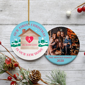 Personalized First Christmas in Our New Home Photo