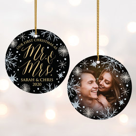 Personalized 'First Christmas As Mr & Mrs' Wedding Photo