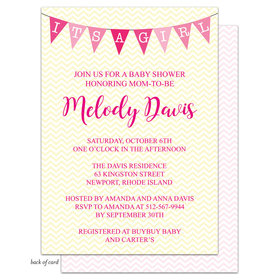 Bonnie Marcus Collection Personalized Chevron Banner Girl Invitation