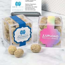 Personalized Business Add Your Logo JUST CANDY® favor cube with Premium Marshmallow S'mores - Milk Chocolate