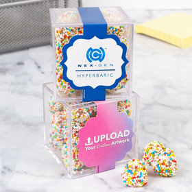 Personalized Business Teamwork JUST CANDY® favor cube with Rainbow Berries