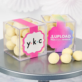 Personalized Business Add Your Logo JUST CANDY® favor cube with Premium Sugar Cookie Bites