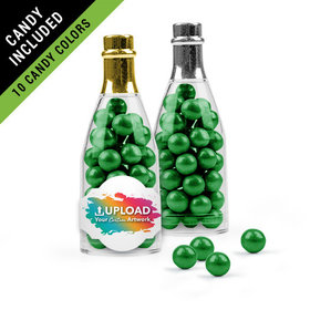 Personalized Business Add Your Logo Favor Assembled Champagne Bottle Filled with Sixlets