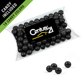 Personalized Business Add Your Logo Favor Assembled Pillow Box Filled with Sixlets
