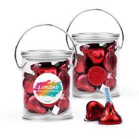 Personalized Business Add Your Logo Favor Assembled Paint Can Filled with Hershey's Kisses