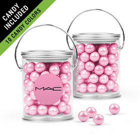 Personalized Business Add Your Logo Favor Assembled Paint Can Filled with Sixlets