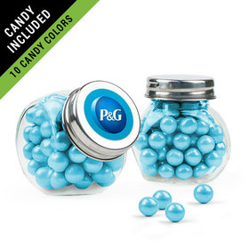Personalized Business Add Your Logo Favor Assembled Mini Side Jar Filled with Sixlets