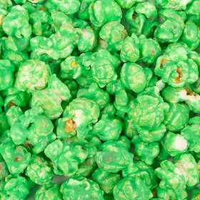 Candy Coated Green Popcorn