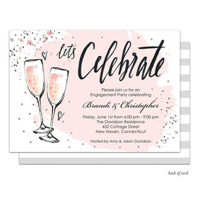 Bonnie Marcus Collection Personalized Bubbly Pink Party Invitation