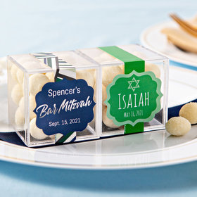 Personalized Bar Mitzvah JUST CANDY® favor cube with Premium Sugar Cookie Bites