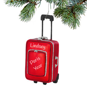 Personalized Red Suitcase