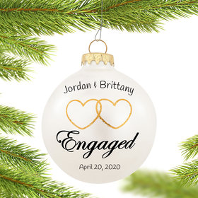 Personalized Two Hearts Engaged