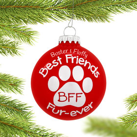 Personalized Best Friends Fur-ever Paw Print