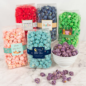 Personalized Baby Shower Candy Coated Popcorn 8 oz Bags