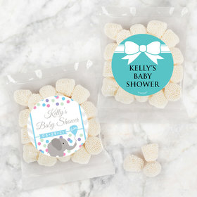 Personalized Baby Shower Candy Bags with Jelly Belly Champagne Bubble Gumdrops