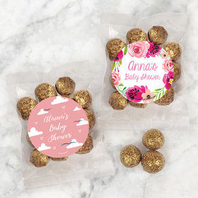 Personalized Baby Shower Candy Bags with Premium Gourmet Sparkling Prosecco Cordials