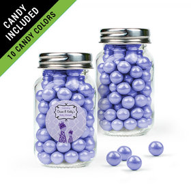 Personalized Baby Shower Favor Assembled Mini Mason Jar Filled with Sixlets