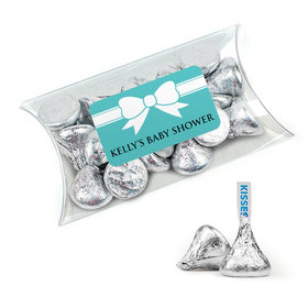 Personalized Baby Shower Favor Assembled Pillow Box Filled with Hershey's Kisses