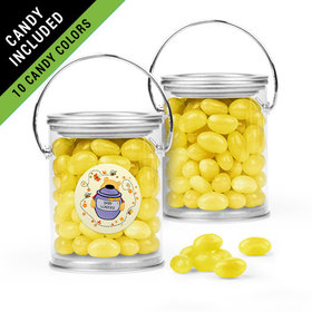 Personalized Baby Shower Favor Assembled Paint Can Filled with Just Candy Jelly Beans