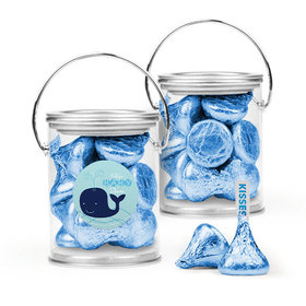 Personalized Baby Shower Favor Assembled Paint Can Filled with Hershey's Kisses