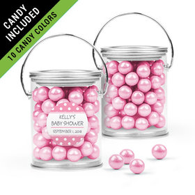 Personalized Baby Shower Favor Assembled Paint Can Filled with Sixlets