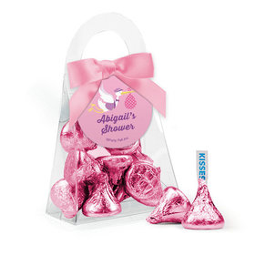 Personalized Baby Shower Favor Assembled Purse Filled with Hershey's Kisses