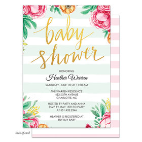 Bonnie Marcus Collection Personalized Baby Shower Stripes Invitation