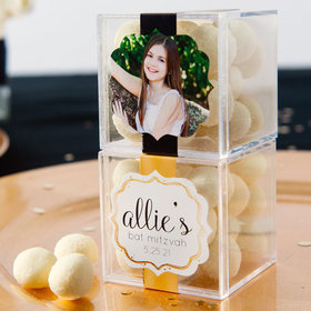Personalized Bat Mitzvah JUST CANDY® favor cube with Premium Sugar Cookie Bites