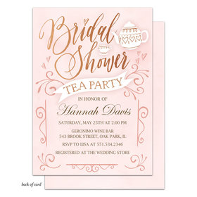 Bonnie Marcus Collection Personalized Bridal Tea Party Invitation - Pink