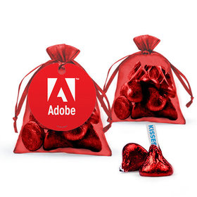 Personalized Thank You Favor Assembled Organza Bag Filled with Hershey's Kisses