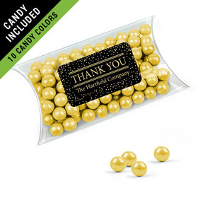 Personalized Thank You Favor Assembled Pillow Box Filled with Sixlets