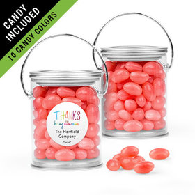 Personalized Thank You Favor Assembled Paint Can Filled with Just Candy Jelly Beans