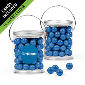 Personalized Thank You Favor Assembled Paint Can Filled with Sixlets