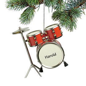 Personalized Red Drum Set