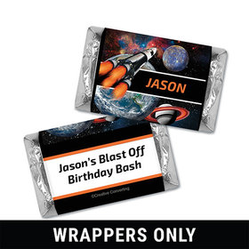 Personalized Birthday Space Blast Miniatures Wrappers