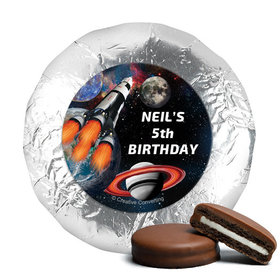 Personalized Birthday Space Blast Milk Chocolate Covered Oreos (24 Pack)