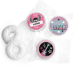 Personalized Birthday Rock Star Girl Life Savers Mints (300 Pack)