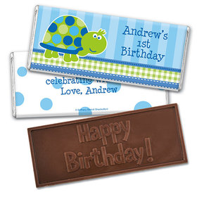 Personalized Birthday Turtle Embossed Happy Birthday Chocolate Bar