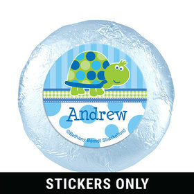 "Personalized Birthday Turtle 1.25"" Stickers (48 Stickers)"