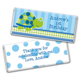 Personalized Birthday Turtle Chocolate Bar & Wrapper