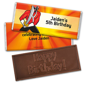 Personalized Birthday Rangers Embossed Happy Birthday Chocolate Bar