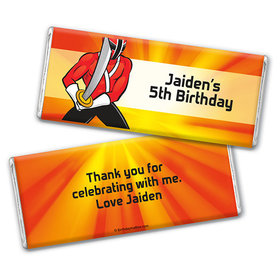 Personalized Birthday Rangers Chocolate Bar Wrappers