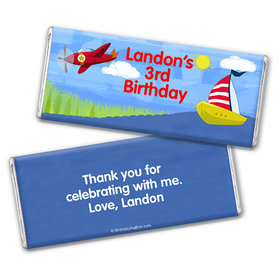 Personalized Birthday Sky & Sea Chocolate Bar & Wrapper