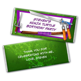 Personalized Birthday Ninja Power Chocolate Bar & Wrapper