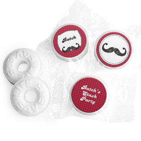 Personalized Birthday Mustache Madness Life Savers Mints