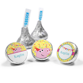 Personalized Birthday Pigs & Dots Hershey's Kisses (50 Pack)