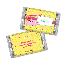 Personalized Birthday Pigs & Dots Hershey's Miniatures