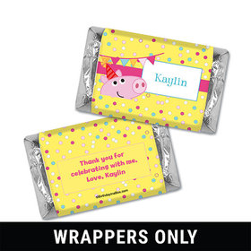 Personalized Birthday Pigs & Dots Miniatures Wrappers