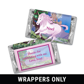 Personalized Birthday Unicorn Miniatures Wrappers