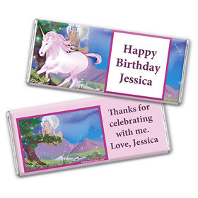 Personalized Birthday Unicorn Chocolate Bar & Wrapper